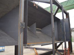 train aggregate hopper 8x6x84 mt