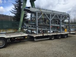 Inline Aggregate Storage Hopper + Belt Conveyor