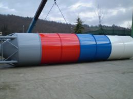 Telescopic Vertical Silo for Container
