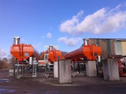 3 x Low Level Horizontal Cement Silo 76m³