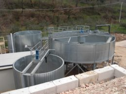 Dynamic Water Clarifier ø9000 with water and sludge tanks