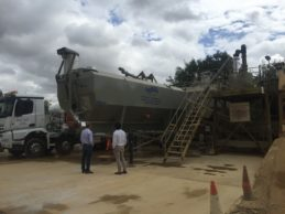 Low Level Horizontal Cement Silo 36m³