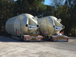 2 x Monolithic Vertical Double Chamber Silos ø3200 mm