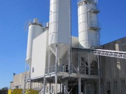 2 x Bolted Vertical Cement Silos 80m³ + Belt Conveyor