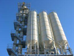 3 x Monolithic Vertical Cement Silos 50m³