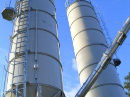 2 x Monolithic Vertical Cement Silos 45m³