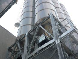 6 x Monolithic Vertical Cement Silo 57m³