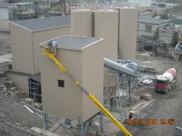 Modular cement-aggregates cement silo